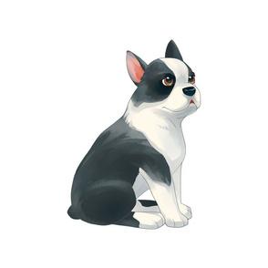 """18"""" Boston Terrier Design"""