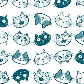 Funny Felines Teal