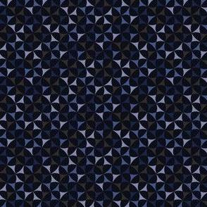 Geometric Pattern: Windmill: Midnight