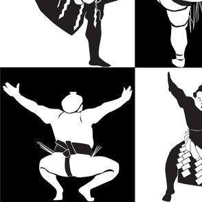 Sumo Black and White
