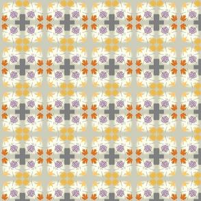 Gray Cross Floral