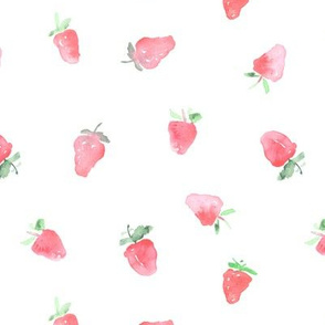 Tender baby strawberries || watercolor for nursery