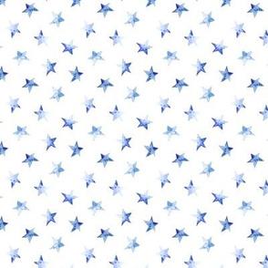 Tiny baby blue stars    watercolor night sky pattern for nursery