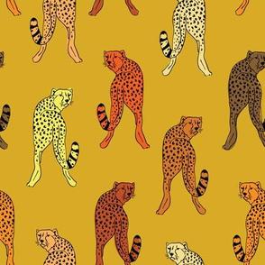 cheetah print in mustard