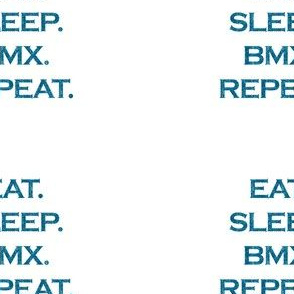 Eat Sleep BMX Repeat Mermaid Ocean Blue Glitter Color Text