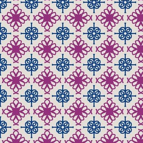 plum and blue tiled