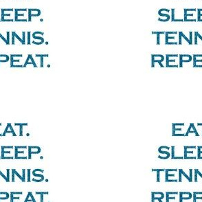 Eat Sleep Tennis Repeat Mermaid Ocean Blue Glitter Color Text