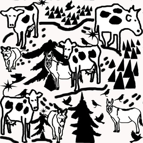 Contour cows and donkeys copy