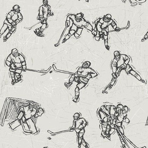 Hockey Sketch Black on white