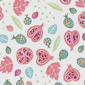 Pink Pomegranate  Garden with beeltes