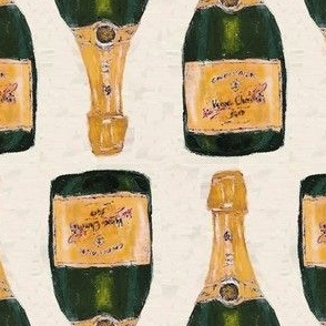 "yellow champagne bottles basic repeat - 5"" (half size)"