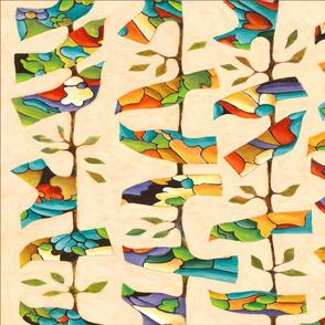 SF towel Birds twill