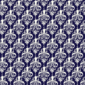 Squid Damask Small Navy