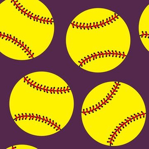 Softballs on Plum
