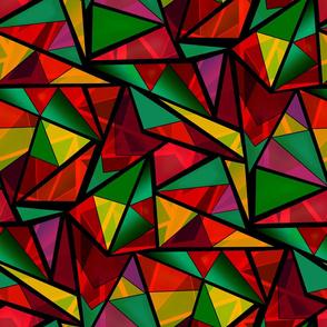 Bright geometric triangles shapes bright pattern