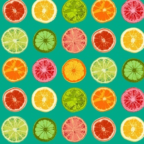 Pop art citrus (emerald)