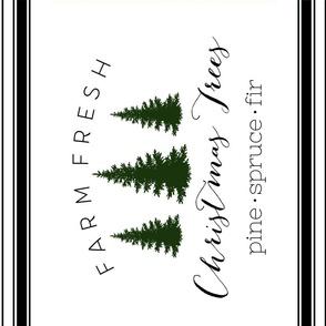 TEA TOWEL CHRISTMAS TREES