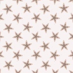 Winter Rustic Stars Lino Cut Texture