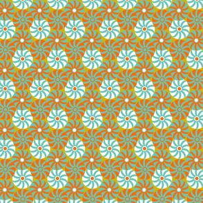 sea urchins yellow background