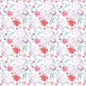 IBD Sweetheart Florals White 2.5x2.5