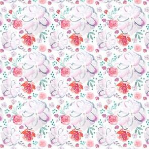 IBD Sweetheart Florals White 2.5x2.5