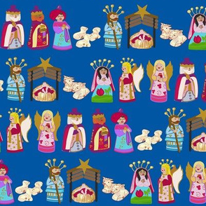 The Talavera Twins-Nativity-Blue