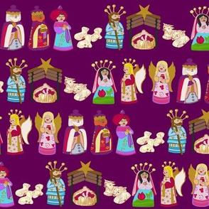 The Talavera Twins Nativity-Purple