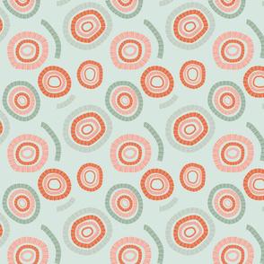 Circles orange & green