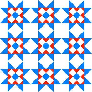 Star Crossed center Blue Red