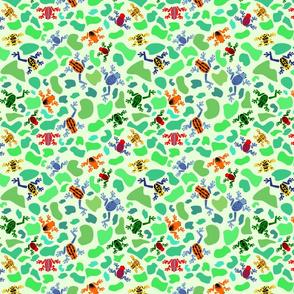 dart frogs green