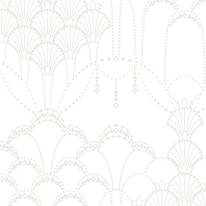 Deco Lace off white grey large