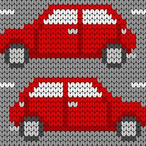 08258821 : knit car 1g : red