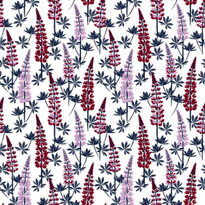Lupine Fields navy orchid small