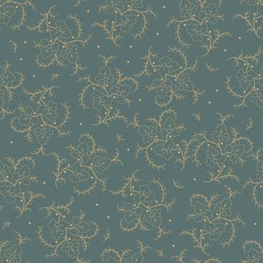 Porch Perfect flower spray teal 2026-10