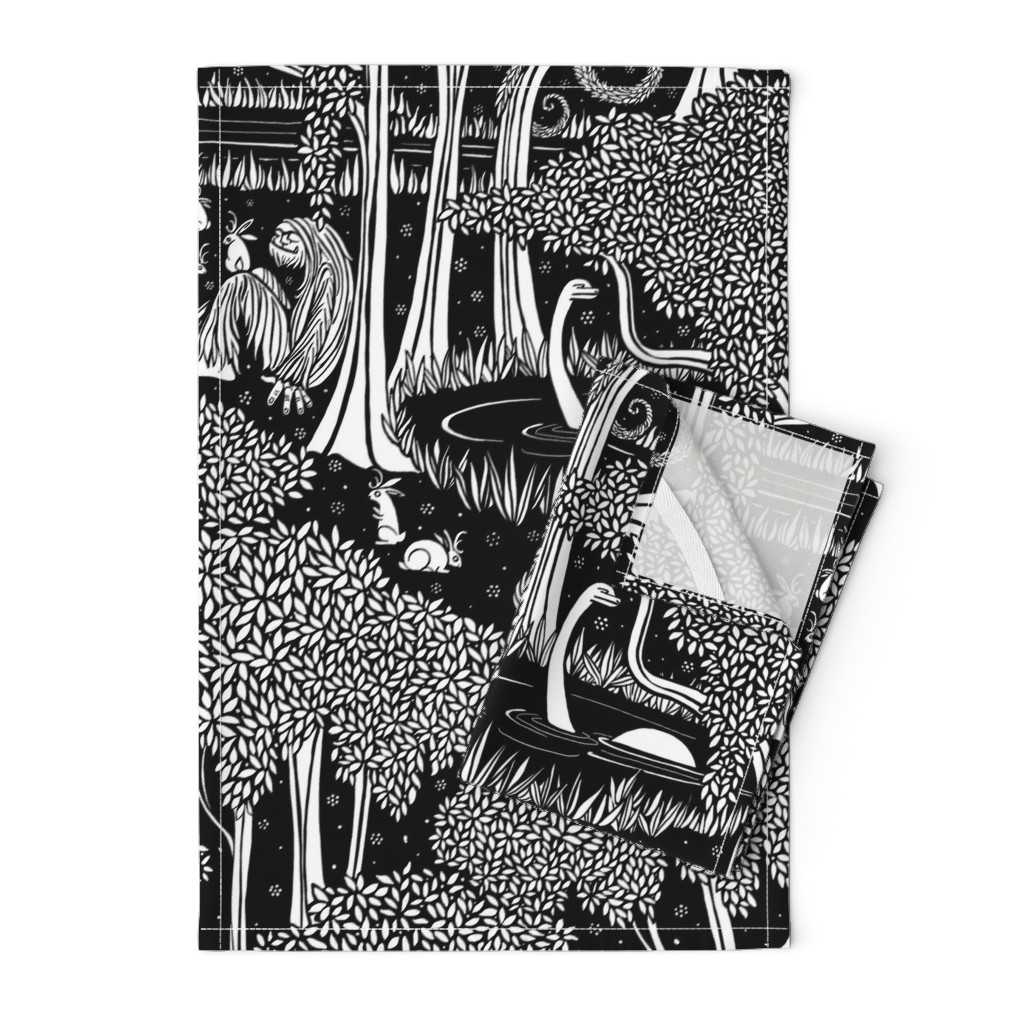 Orpington Tea Towels featuring The Cryptozoological Park by ceanirminger