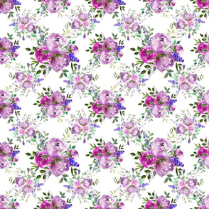 Lita Floral White Purple