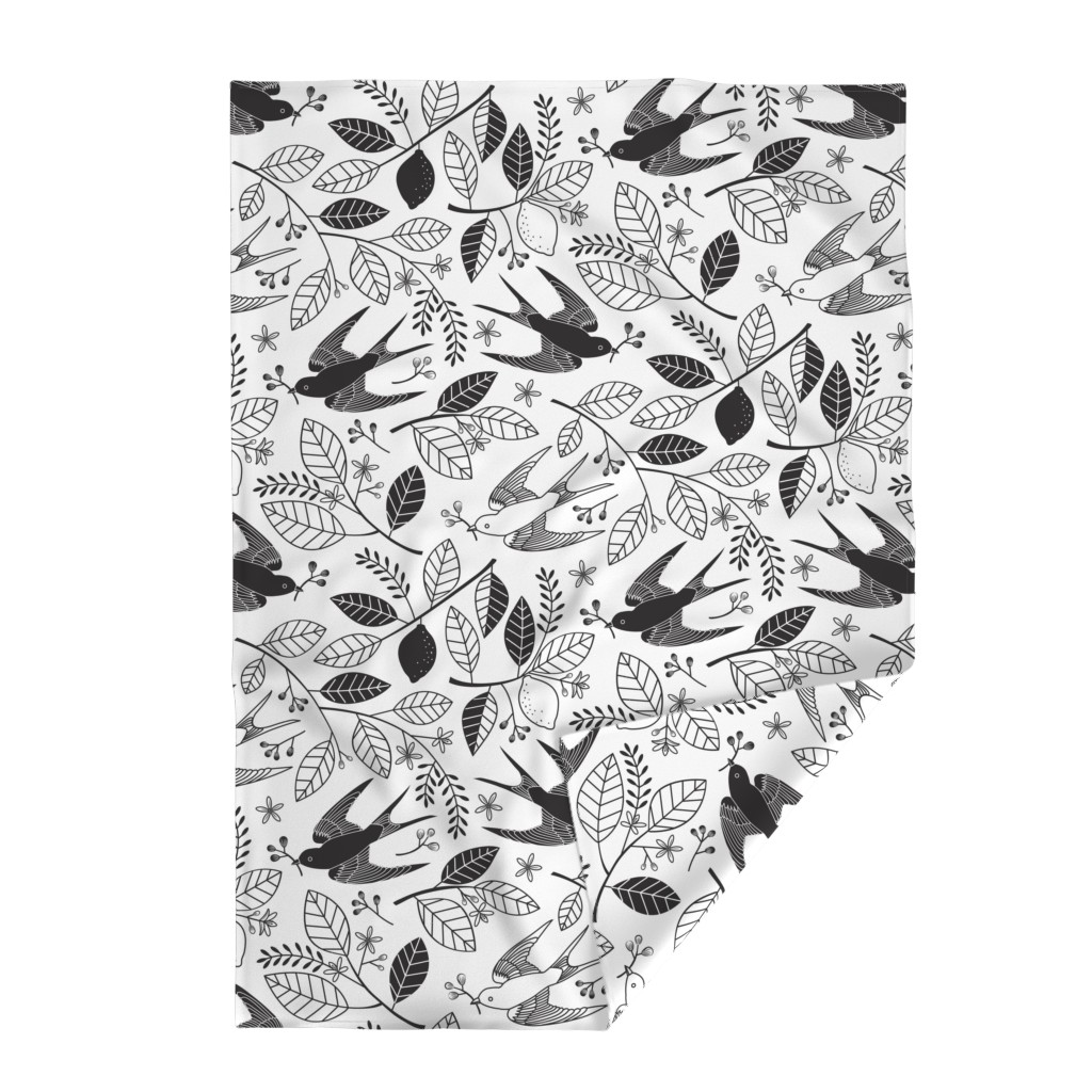 Lakenvelder Throw Blanket featuring The Lemon Tree - Black & White by lellobird