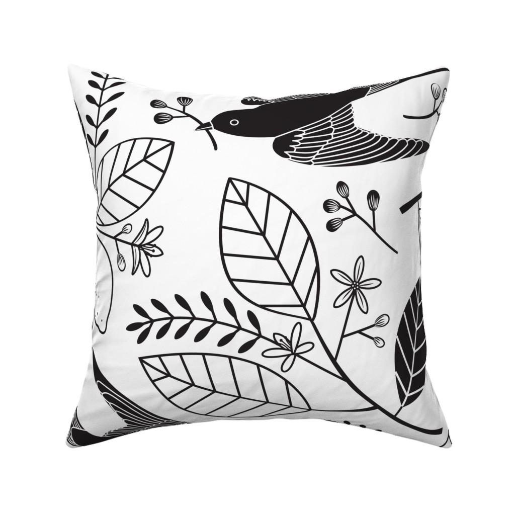 Catalan Throw Pillow featuring The Lemon Tree - Black & White by lellobird