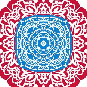 Complex tile blue and red