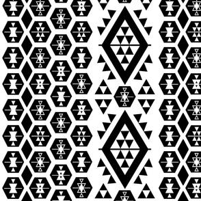 Black and White Kilim