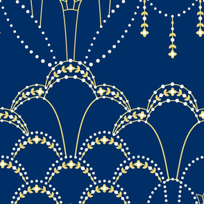 Deco Lace navy blue extra large.