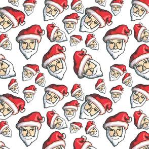 Santa Head Repeat
