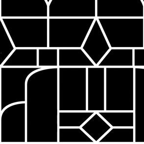 Art Deco Black and White Jumbo Wallpaper