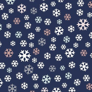 Snowflakes on dark blue – small scale