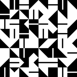 Quilty Tile - B&W