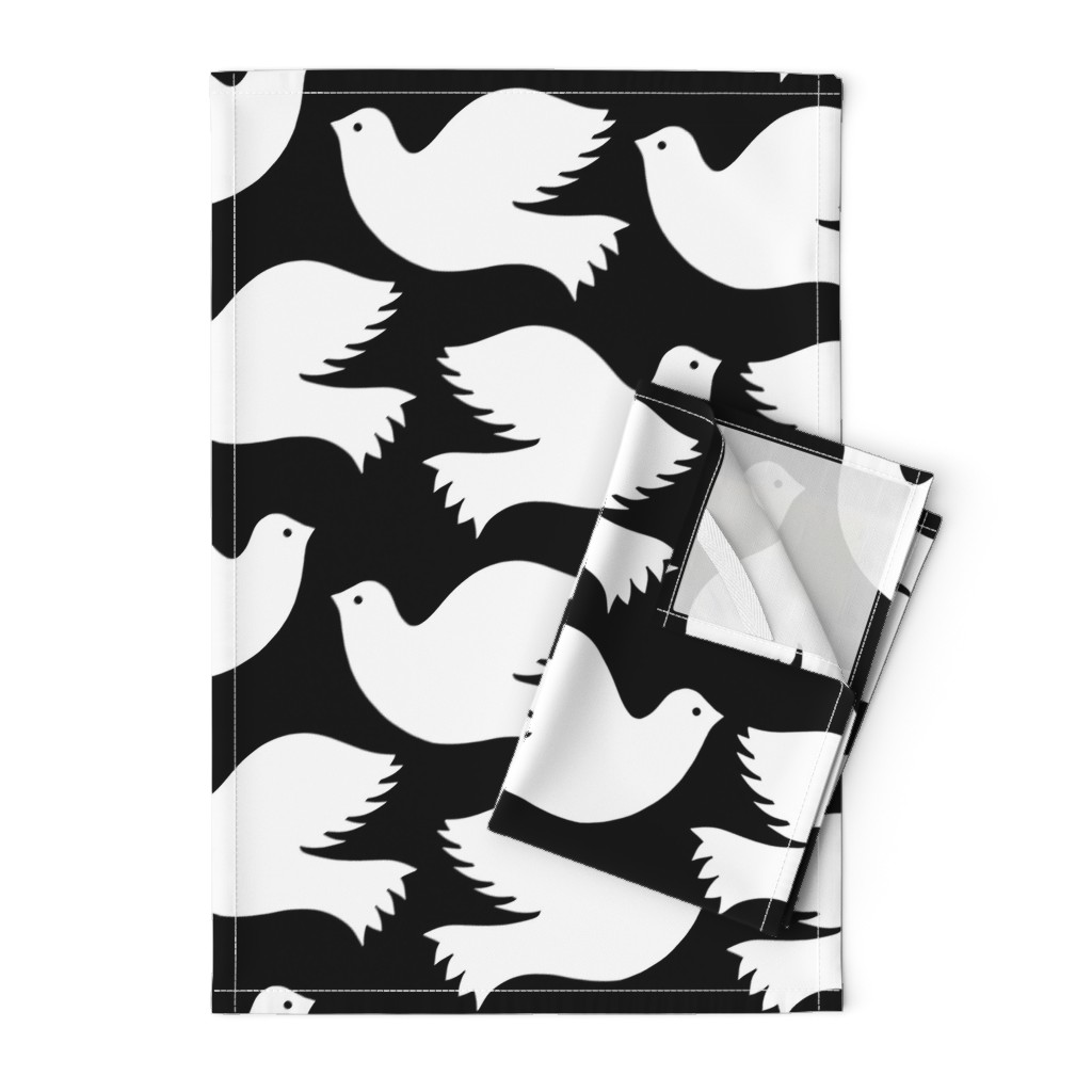 Orpington Tea Towels featuring 17275-300-PEACE-DOVES-KKATZ-SFbf by kirstenkatz