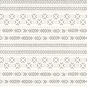 Mud cloth ivory grey medium