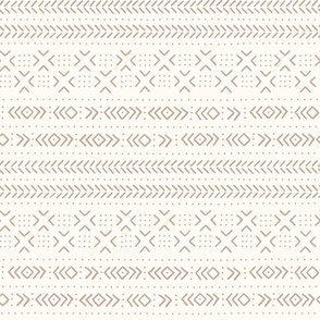 Mud cloth ivory tan medium