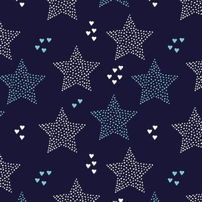 Christmas stars light dreamy winter night love blue navy