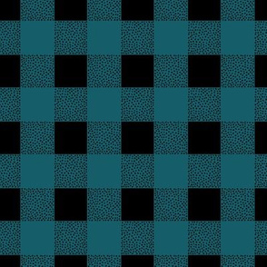 Canada camping theme buffalo plaid check design abstract outdoors design christmas winter teal blue green